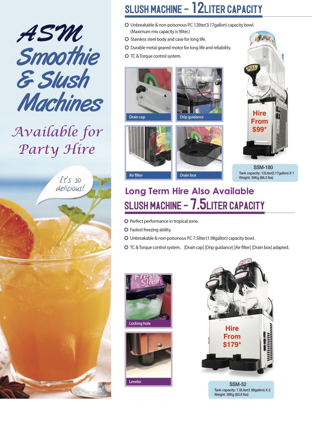 Hire Slush Machine Buy Rent Cocktail Drink Unit Buy